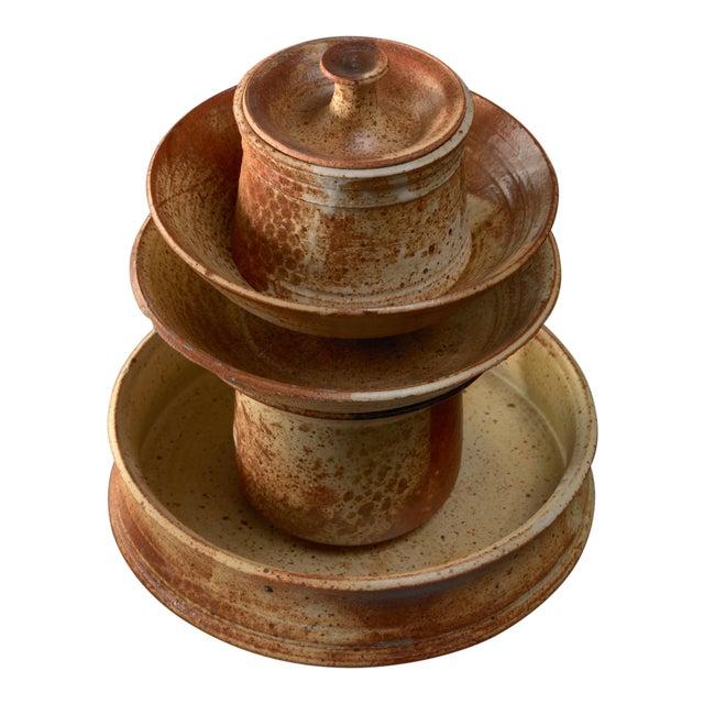 Set of Five Franco Agnese Ceramic Pieces For Sale