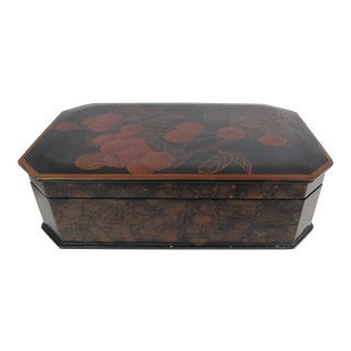 Vintage Chinese Lacquered Box For Sale