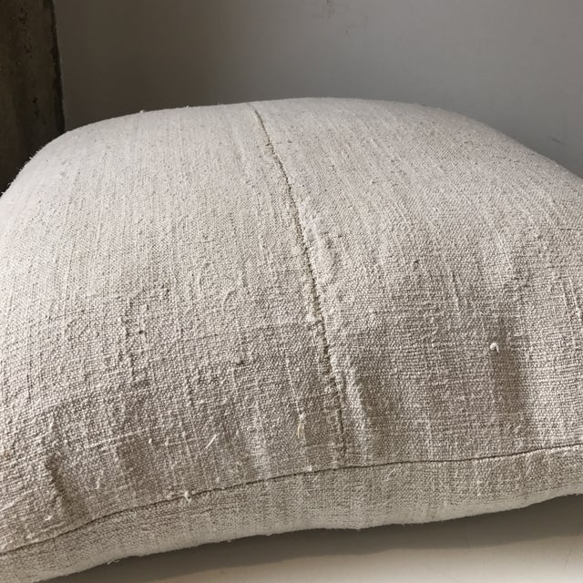 French Grain Sack Pillows - A Pair - Image 7 of 7