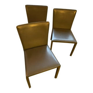 Room & Board Leather Modern Dining Chairs For Sale
