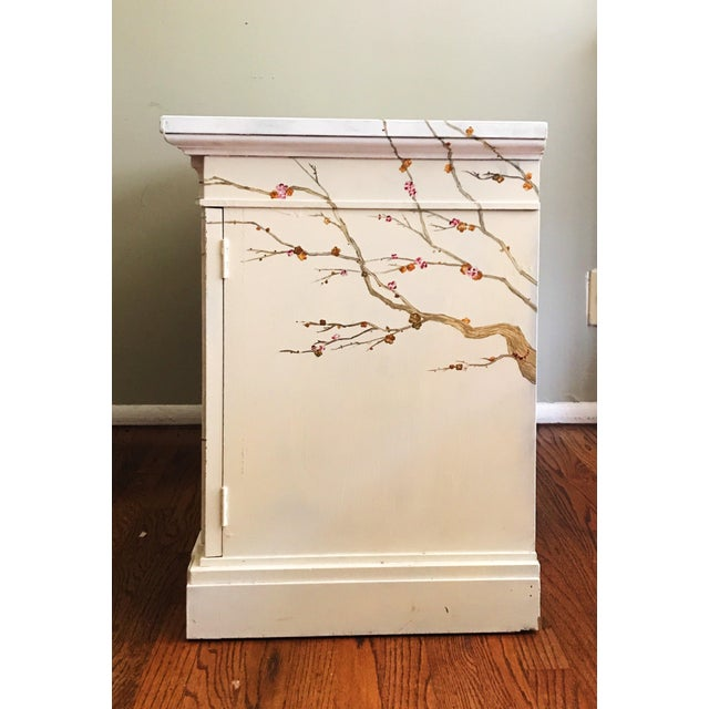 Freehand-Painted Chinoiserie Design Cabinet For Sale - Image 4 of 5