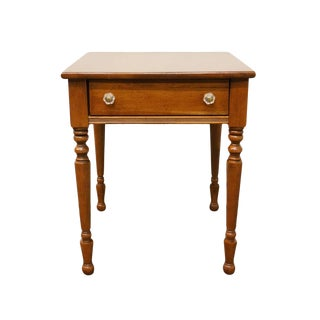 Lane Furniture Solid Cherry Wood End Accent Table For Sale