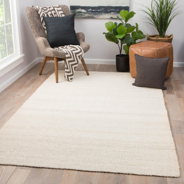 2010s Jaipur Living Hutton Natural White Area Rug - 10′ × 14′ For Sale - Image 5 of 6