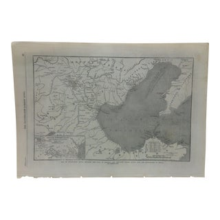 "1862 Antique Illustrated London News ""Map of North-East China"" Print For Sale"