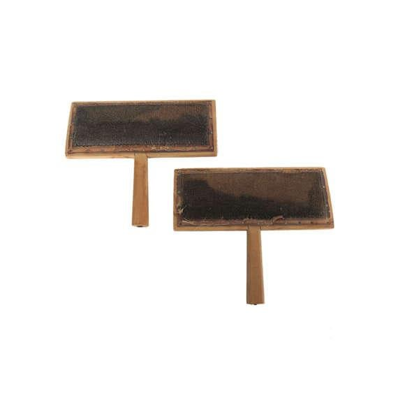 """Pair of antique wooden cotton comb tools from the 1920s Material: Wood Marked """"The Only Genuine Old Whittemore Patent No...."""