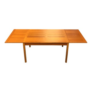 Mid Century Modern Ansager Mobler Teak Extension Dining Table For Sale