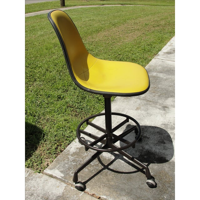 Mid-Century Herman Miller Yellow Bar Stool - Image 5 of 8