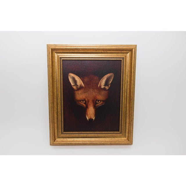 Framed Fox Painting - Image 3 of 3