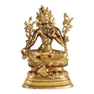 Thai Gilt Bronze Seated Buddha For Sale