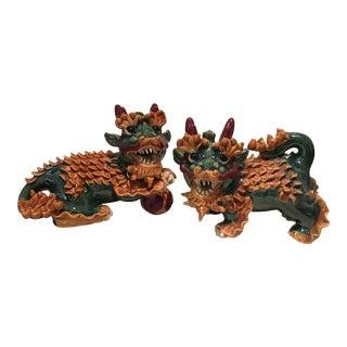 Japanese Kirin Figurines - a Pair For Sale