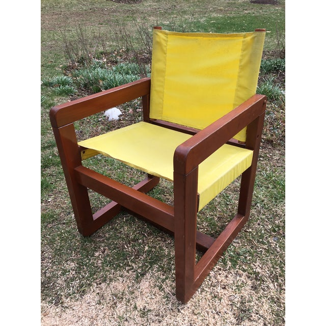 This set of fabulous chairs is right from a CT estate. Original yellow canvas is intact though some random fades and...