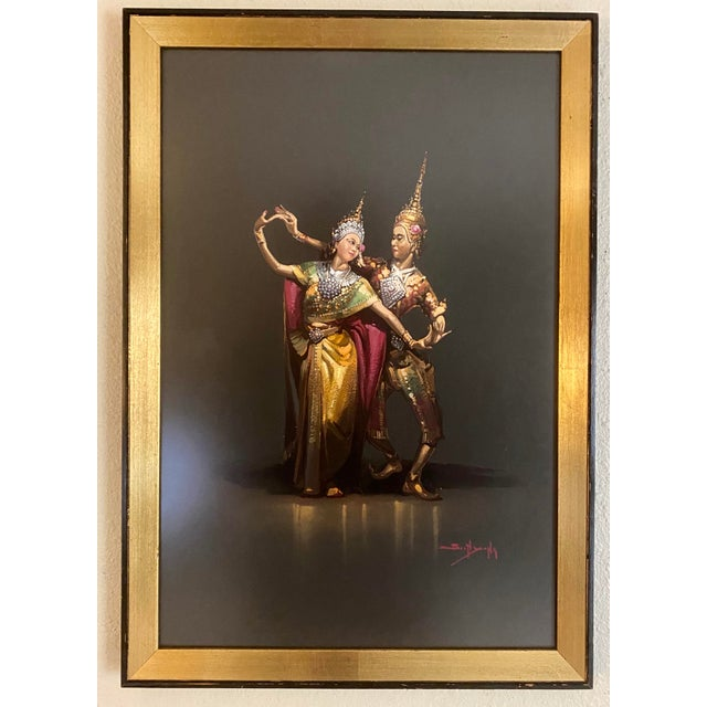 1960s Traditional Pose Siam Dancers Framed Print For Sale - Image 9 of 9