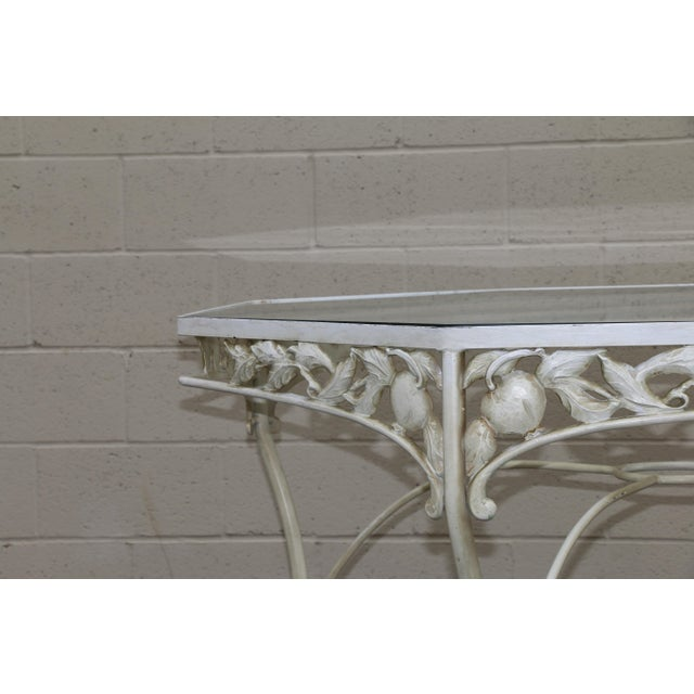 Antique White Metal Fruit Accent Patio Set - Set of 5 For Sale - Image 8 of 13