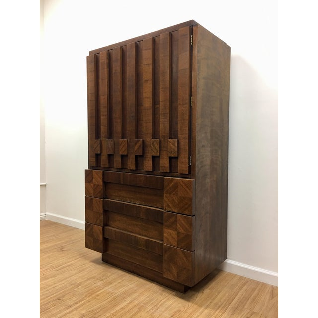 Brutalist Armoire by Lane For Sale - Image 10 of 13