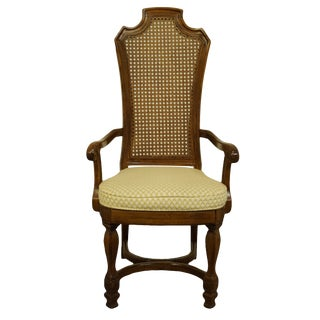 Late 20th Century Vintage Thomasville Furniture Legacy Collection Dining Arm Chair For Sale