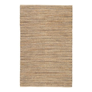 Jaipur Living Canterbury Natural Solid Tan & Black Area Rug - 9'x12' For Sale