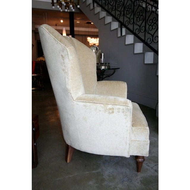 1950's Arturo Pani Beige Velvet Upholstered Lounge Chairs - a Pair For Sale In Los Angeles - Image 6 of 8