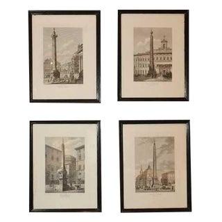 Column & Obelisk Etchings For Sale