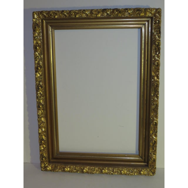 Antique Wood Gesso Gilded Picture Frame 17 X 23 Chairish