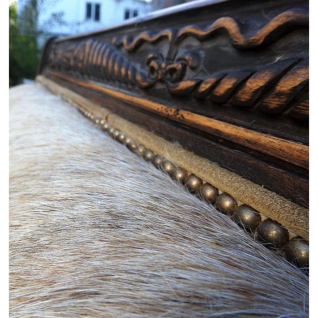 Old Hickory Tannery Horsehair & Leather Sofa - Image 4 of 11
