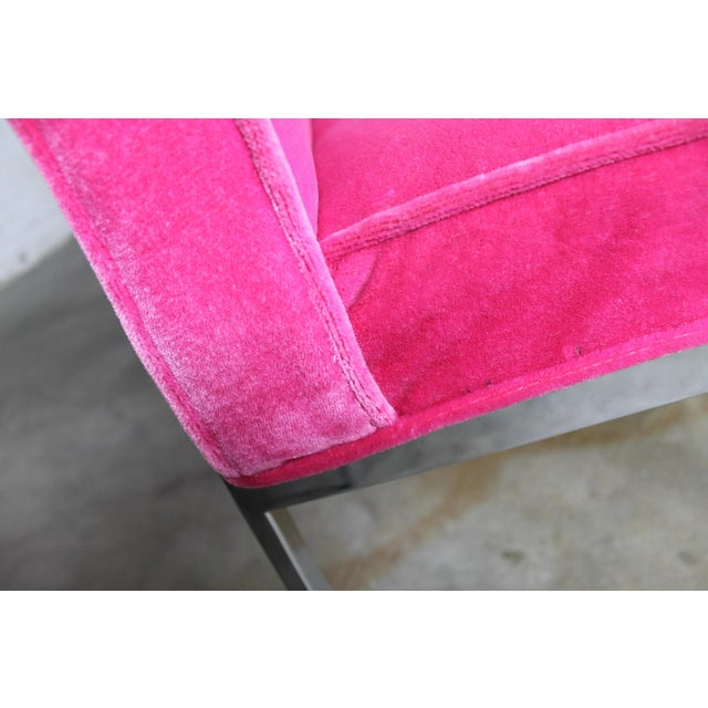 Vintage American of Martinsville Mid Century Modern Hot Pink & Chrome Dining Chairs - Set of 4 For Sale - Image 10 of 11