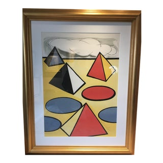 """1970s Abstract Lithograph, """"La Piege"""" (The Trap), by Alexander Calder"""