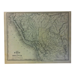 "1880s Antique Mitchell's Modern Atlas ""Peru and Bolivia"" For Sale"