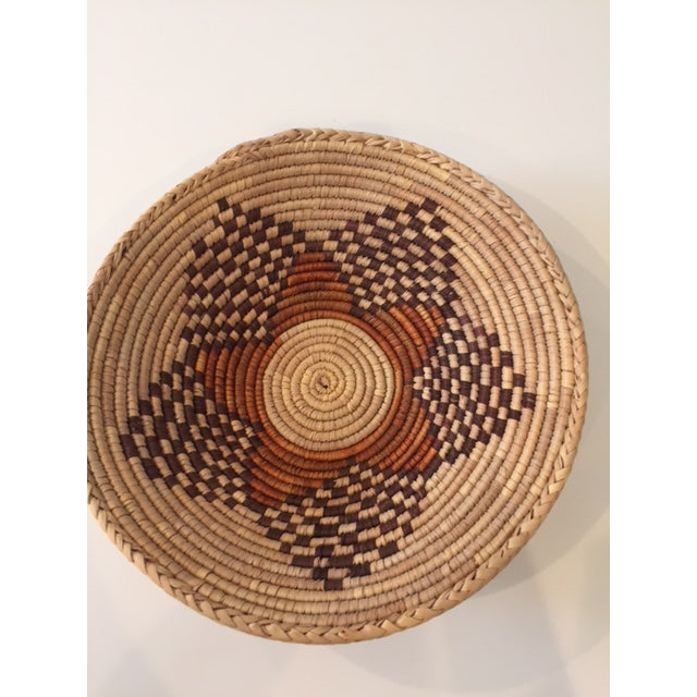 Vintage Native American Style Coil Basket - Image 5 of 8