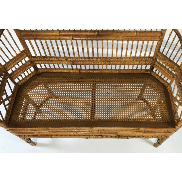 Brighton Pavillion Caned Settee For Sale - Image 10 of 11