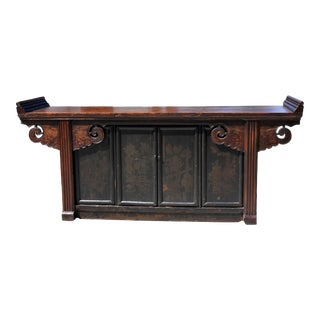"""Monumental 19th Century Chinese Grand Altar 88"""" For Sale"""