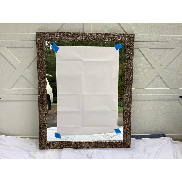 French Faux Bois Mirror For Sale - Image 13 of 13
