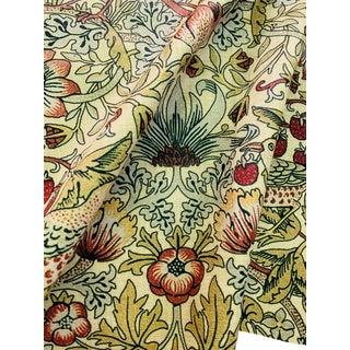 William Morris Strawberry Thief Fabric - Yellow 1 Yard For Sale