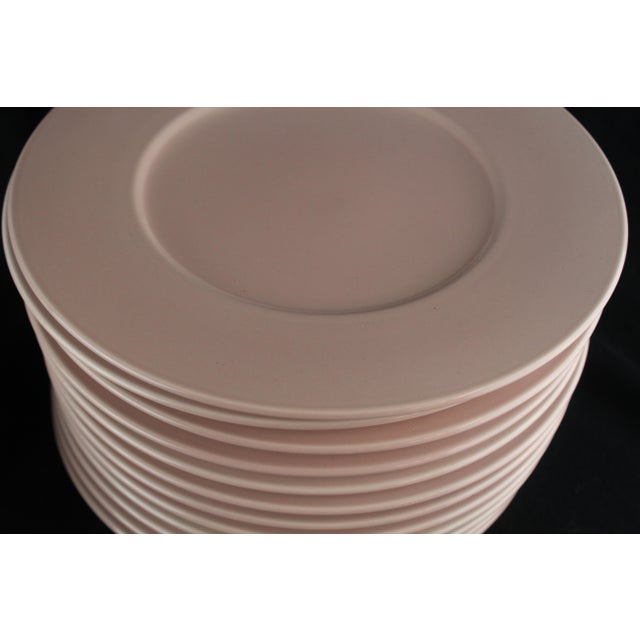 Contemporary Mid 20th Century Rose Pink Mikasa Chargers - Set of 12 For Sale - Image 3 of 9