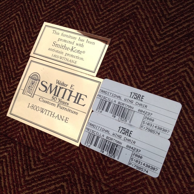 Walter E. Smithe Wingback Chairs - Pair For Sale - Image 10 of 10