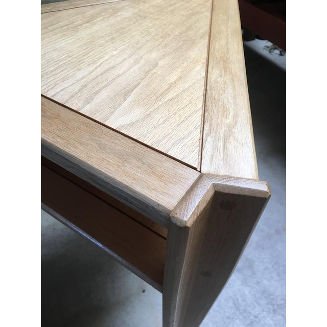 Yellow Studio Triangular Side Table in Solid Oak For Sale - Image 8 of 10