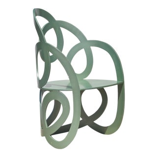 Sculptural Modern Metal Chair by Alan Siegel