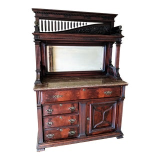 19th Century American Classical Armoire/Sideboard, Buffet For Sale