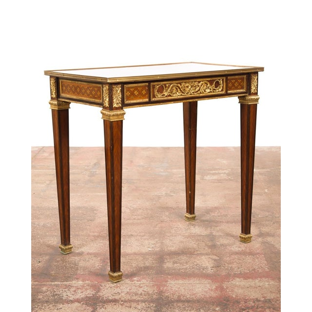 19th C. Louis XVI Bronze Mounted French Side Table - Image 9 of 10