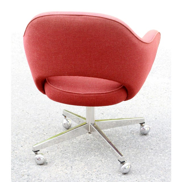 Saarinen Red Executive Office Desk Chair - Image 7 of 10