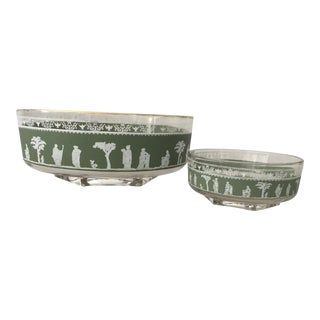Jasperware Chip & Dip Bowls - A Pair For Sale