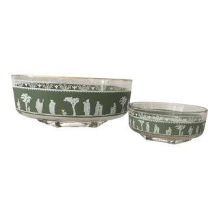 Jasperware Chip & Dip Bowls - A Pair For Sale
