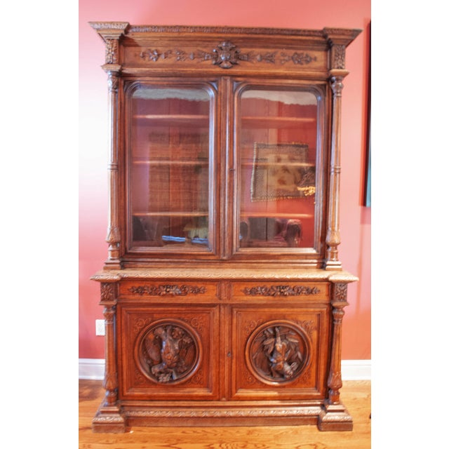 Carved French Oak Cabinet For Sale - Image 13 of 13