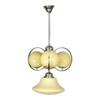 Austrian Art Deco ball chandelier For Sale