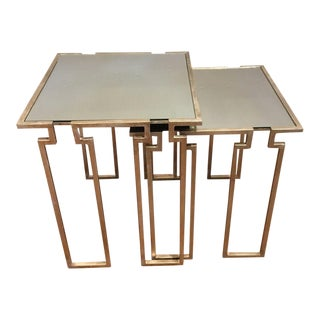 Interlude Stinson Mirrored Nesting Tables - A Pair