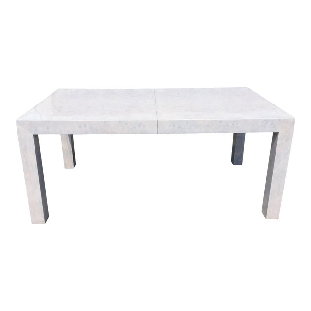 Whitewashed Milo Baughman Dining Table For Sale