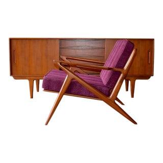 Mid Century Modern Styled Teak Armchair / Lounge Chair For Sale