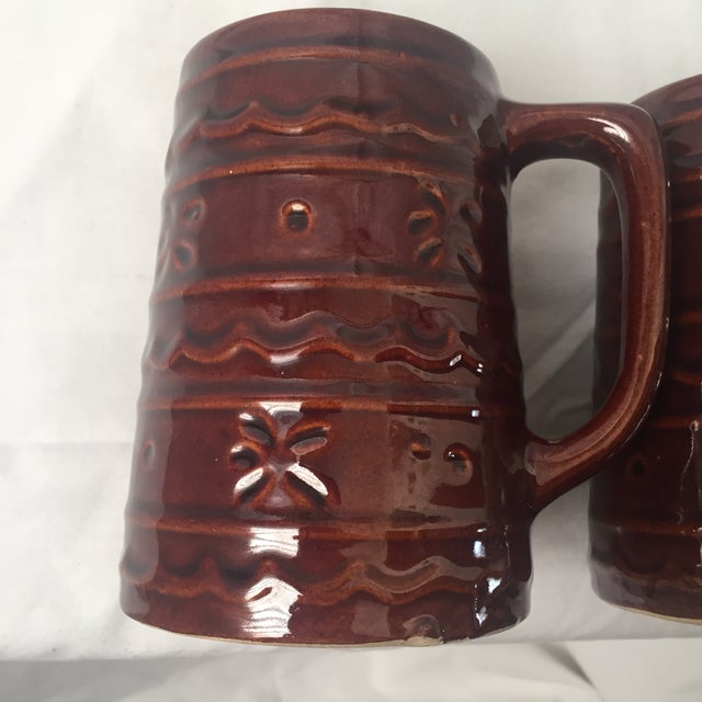 1960s 1960s Vintage Marcrest Daisy & Dot Brown Stein Mugs - Set of 3 For Sale - Image 5 of 11