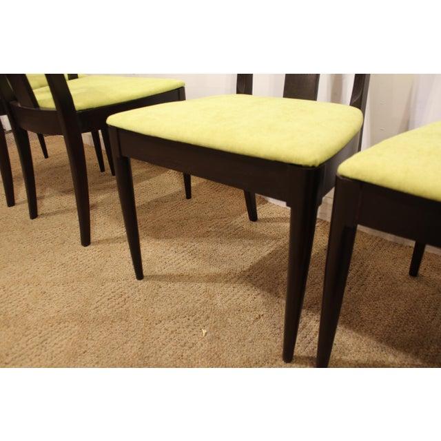 Walnut Mid-Century Danish Modern Brasilia Dark Walnut Dining Chairs #5 - Set of 6 For Sale - Image 7 of 11