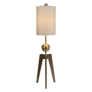 Industrial Glam Floor Lamp For Sale