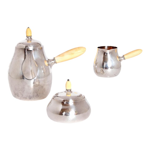 Sterling Silver Coffee Set by Georg Jensen For Sale
